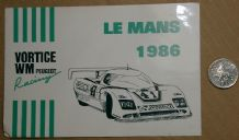 WM Peugeot Le Mans 1986 sticker